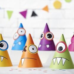 6 Chapeaux Petits Monstres pour apporter une touche de fun et d'ambiance à l'anniversaire de votre petit.