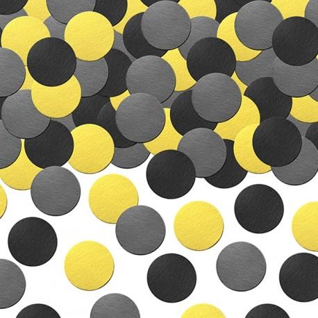 Confettis noir et jaune Abeille pour offrir une touche d'originalité aux festivités organisées autour d'un thème abeille.