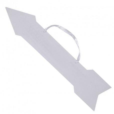 4 Flèches signalétiques blanches en carton pour montrer élégamment les différents endroits de votre festivité.