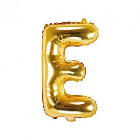 Ballon Lettre e métal doré 35cm - Dragées Anahita