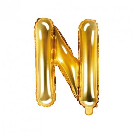 Ballon Lettre N Or 35cm