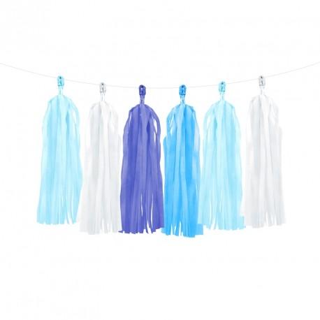 Guirlande Tassel Mix de Bleu pour agrémenter le décor lors de votre cérémonie.