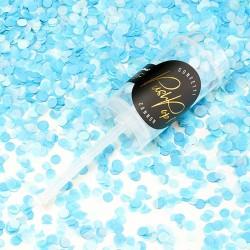 Push Pop confettis Ciel et turquoise pour une animation festive et légère.