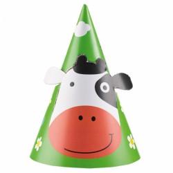 """8 Chapeaux Vache """"Les Animaux de la Ferme"""" pour compléter votre panoplie d'accessoires de décoration et de déguisement."""