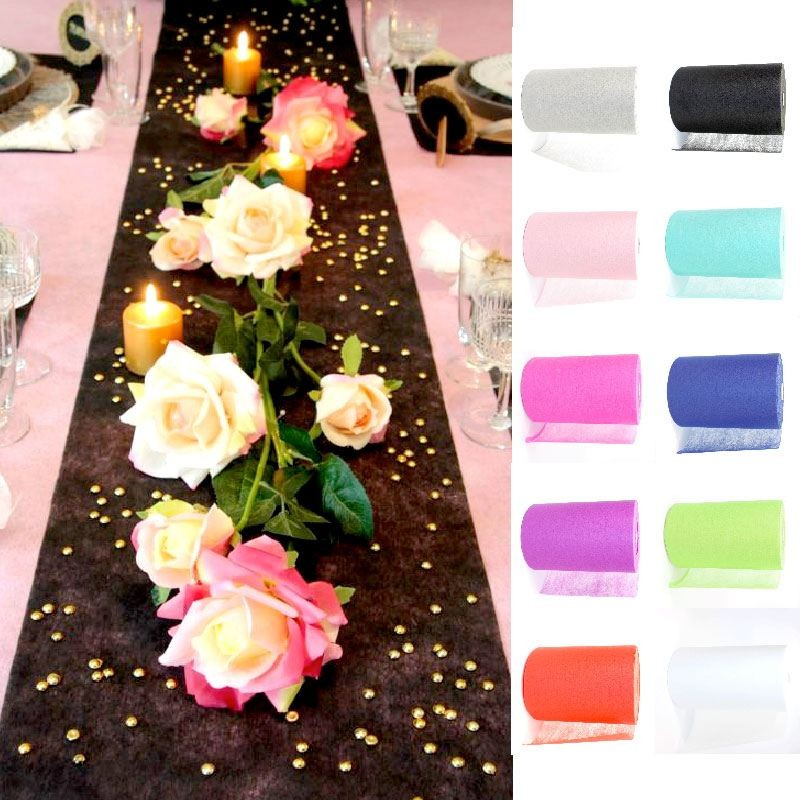 Chemin de table pas cher 100 m tres drag es anahita - Decoration table anniversaire 20 ans ...