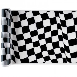 Chemin de Table drapeau damier Formule 1
