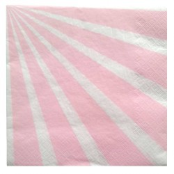 20 Serviettes Candy bar rose en papier