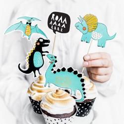 5 pics dinosaures pour cup cake et gâteaux