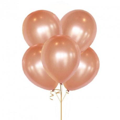 10 ballons Rose Gold 30cm