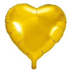 Ballon coeur métallisé OR 45cm