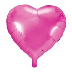 Ballon coeur Fuchsia Aluminium 45cm