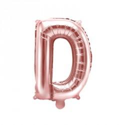 Ballon Lettre D Rose Gold 35cm