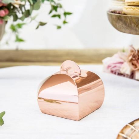 """10 Boites à dragées """"Rose Gold"""""""