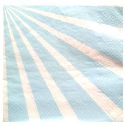 20 Serviettes Candy bar bleu ciel en papier