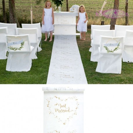 Tapis Just Married Blanc