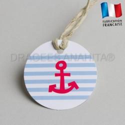 etiquette à dragées thème marin