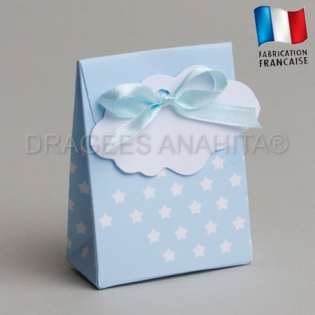 Boite bleu pour naissance