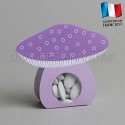 Ballotin à dragées champignons violet