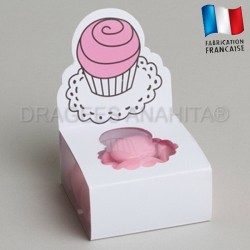 Fourreau à dragées cupcake rose