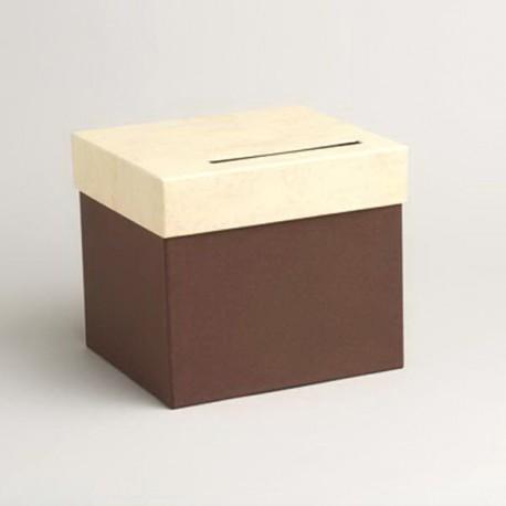 Urne de couleur chocolat et parchemin