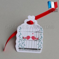 etiquette theme colombe