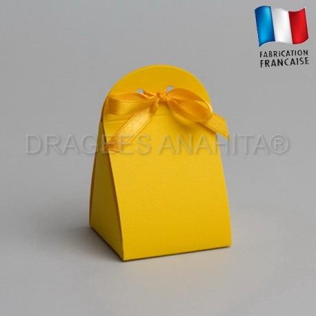 pochon à dragées couleur jaune