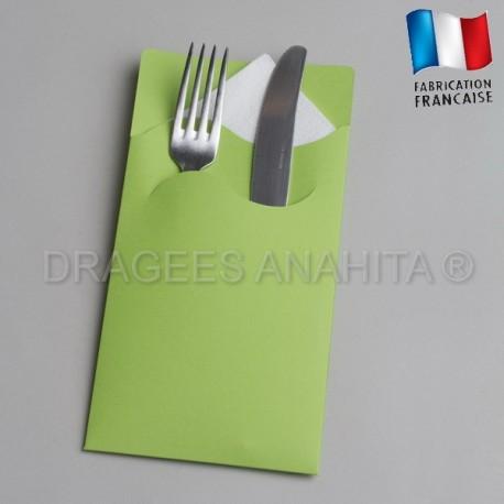 pochette couvert vert