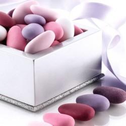 Assortiement dragées amandes rose et prune