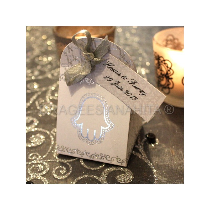 boite drages mariage oriental blanche - Boite A Drage Mariage Orientale