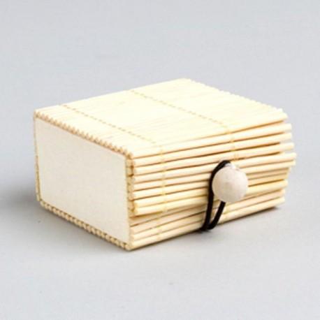 Contenant dragées bambou ivoire
