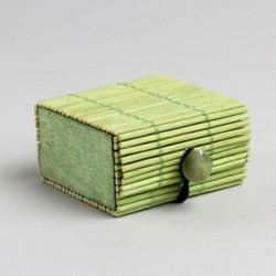 Contenant dragées bambou vert