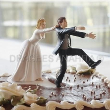 Figurine comique pour gateau de mariage