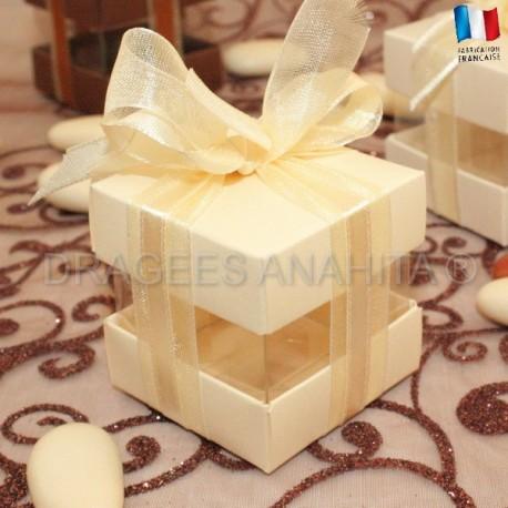 Cube à dragées ivoire