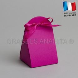 Emballage à dragées fuchsia