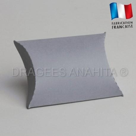 Pochette pour dragées gris