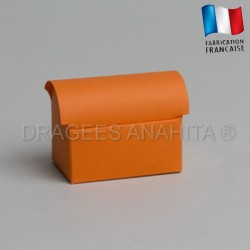 Mini coffre à dragées orange