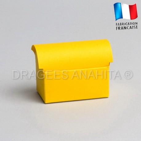 Mini coffre à dragées jaune
