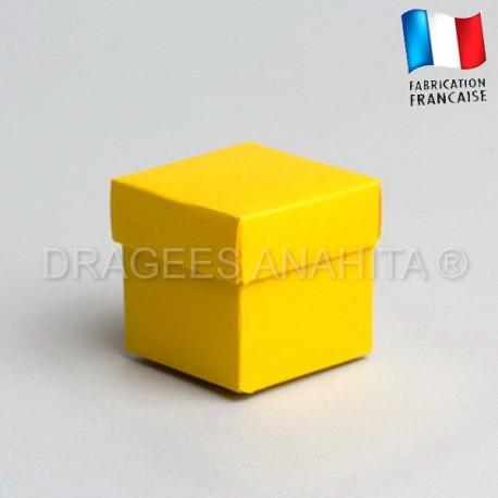 Cube uni à dragées jaune