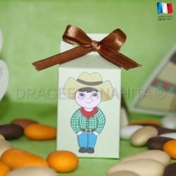 Emballage pour dragées cow boy