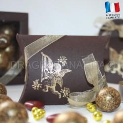Pochette dragées ange chocolat