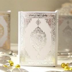 mini coran blanc et argent - Drage Mariage Oriental