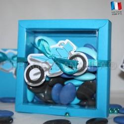 Grande boite à dragées moto
