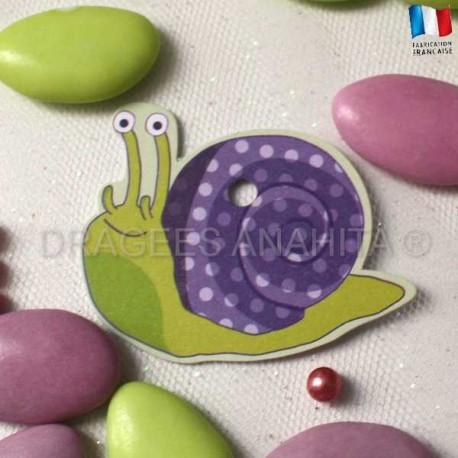 Etiquette pour dragées escargot