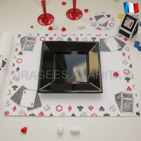 Set de table thème casino
