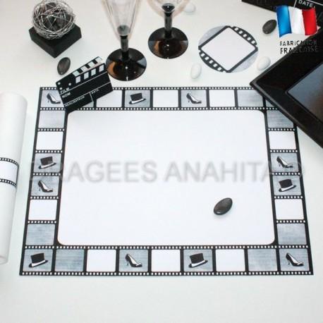 Set de table th me cin ma drag es anahita for Table theme cinema