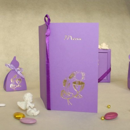 Menu Calice lilas
