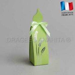 Contenant communion bougie vert