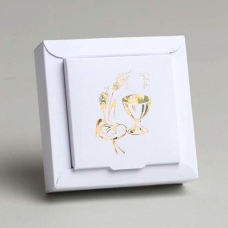 Contenant Calice blanc carré