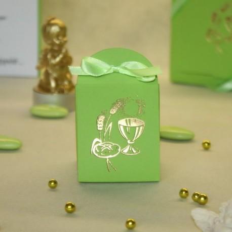 Pochette à dragées Calice vert