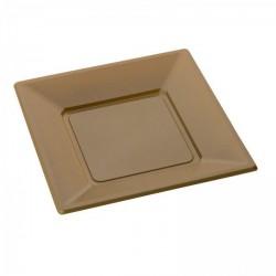 Assiette jetable OR carrée X 12
